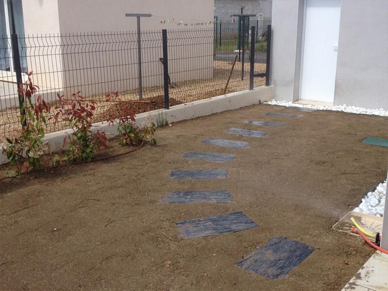 Projet de r alisation d 39 un jardin paysag autour d 39 une for Creation jardin