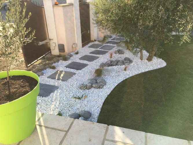 création jardin minéral | - Les Jardins de la Tarasque ...